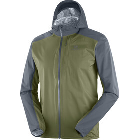 Salomon Bonatti WP Chaqueta Running Hombre, ebony/olive night